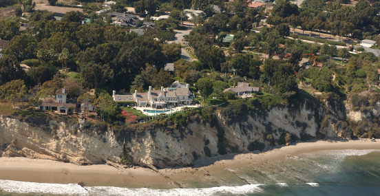 Barbara Streisands mansion i Malibu, CA